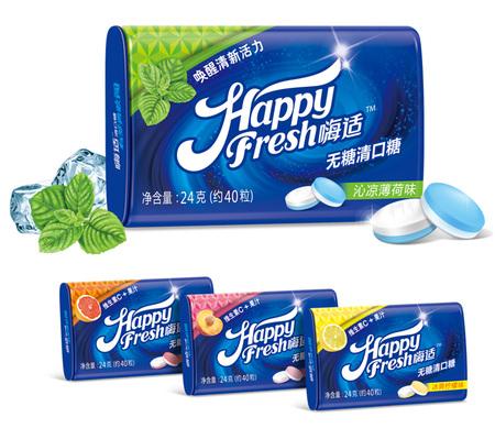 无糖清口糖包装设计