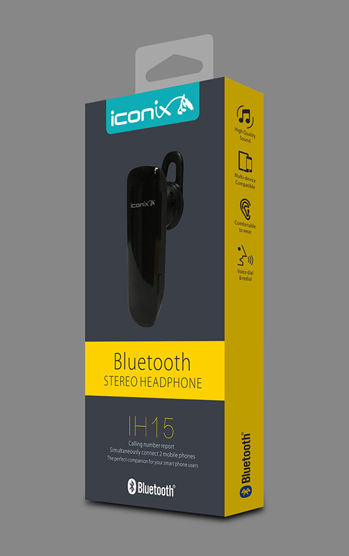 艾康尼斯蓝牙耳机包装设计